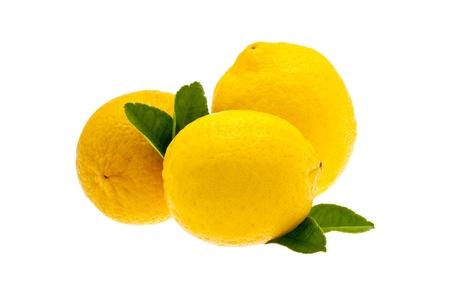 Lemons isolated on white photo