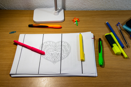 childrens drawing craft table