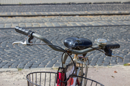 handlebar: handlebar bike Stock Photo