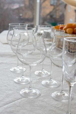 stemware: many stemware glass