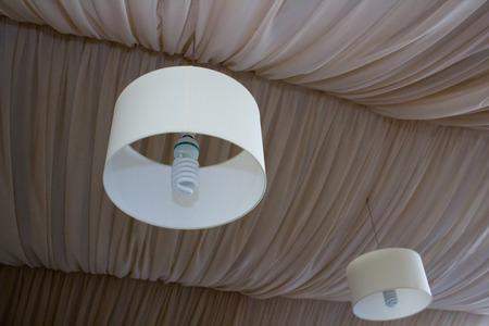 suspended: chandelier round and suspended ceiling