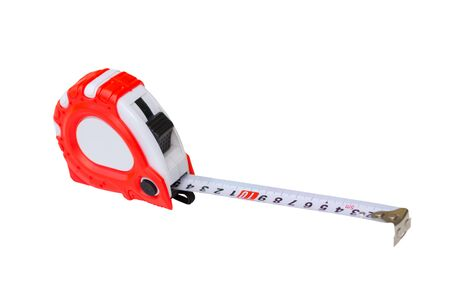 Construction tools Tape measure isolated on a white background