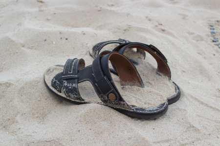 sandal on the beach