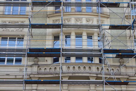 reconstruction and repair of an old building in the city
