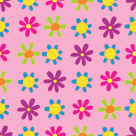 Funky Diagonal Florals Seamless Repeat Pattern.Perfect for backgrounds, and use in scrapbook projects, packaging, decor, decoration, craft projects, card making, fabric, and textile printing.