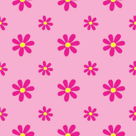 Pink Floral Dream Seamless Repeat Pattern. Perfect for backgrounds, and use in scrapbook projects, packaging, decor, decoration, craft projects, card making, fabric, and textile printing.