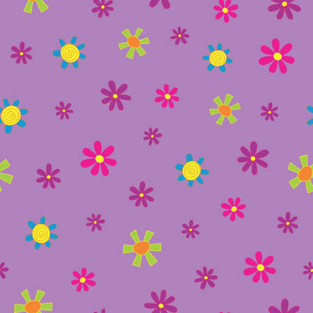 Scattered Tiny Flowers Seamless Repeat Pattern. Perfect for backgrounds, and use in scrapbook projects, packaging, decor, decoration, craft projects, card making, fabric, and textile printing.
