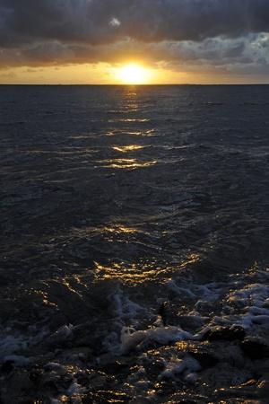 natur: sonnenuntergang, sonne, abend, meer, Nordsee, abends, Abendhimmel, natur, vedere, Abendsonne, Sonnenstrahl, Sonnenstrahlen, romantisch Archivio Fotografico