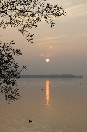 lakefront: evening on the chiemsee