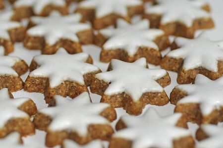 Icing cookies in star shapes photo