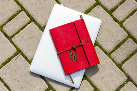 notebook: Notebook with notebook on it