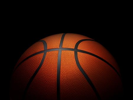 Basketball on black background