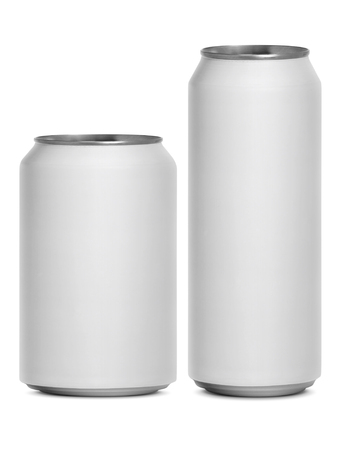 Empty cans isolated on a white background