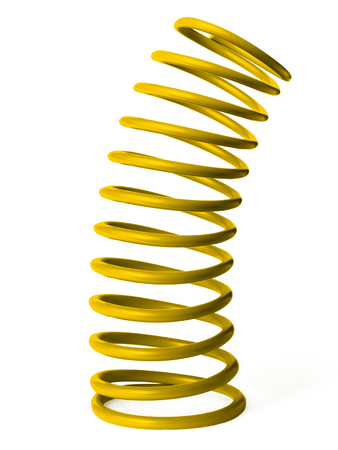 automotive suspension springs on a white background