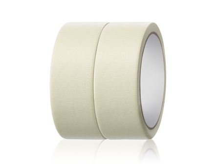 Roll adhesive tape, on isolated white background Standard-Bild