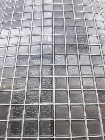 Transparent glass wall in modern building