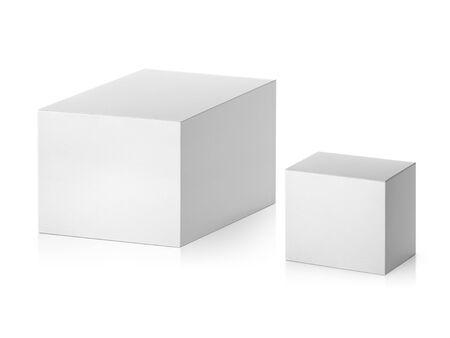 lege verpakking witte kartonnen doos geïsoleerd op een witte achtergrond klaar voor verpakkingsontwerp