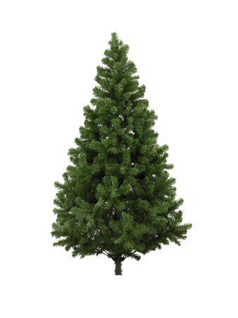 Véritable arbre de Noël, isolé sur fond blanc