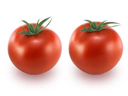 Tomate isolée sur fond blanc Banque d'images