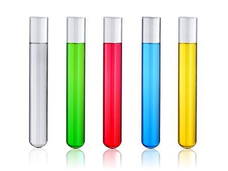 Laboratory test-tube isolated on white Stok Fotoğraf