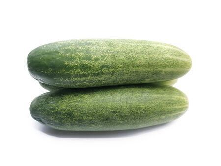 cucumber slice, isolated on a white background