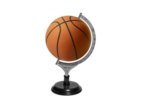 Globe sphere orb Basketball concepts on white background. Sport concepts