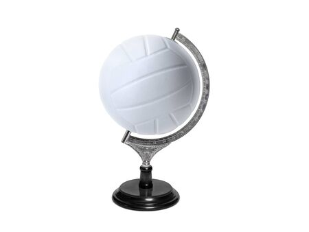 Globe sphere orb Volleyball concepts on white background. Sport concepts Banco de Imagens - 132048225