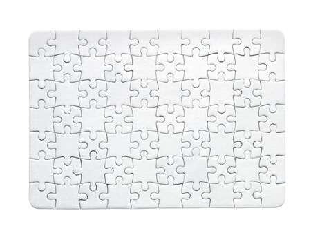 Puzzle simple pattern isolated on white Stok Fotoğraf
