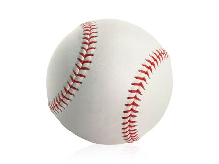 Baseball isoliert auf weißem Hintergrund Standard-Bild