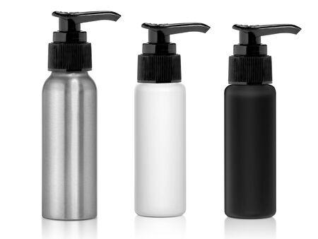 Dispenser Pumpflasche isoliert auf weißem Hintergrund
