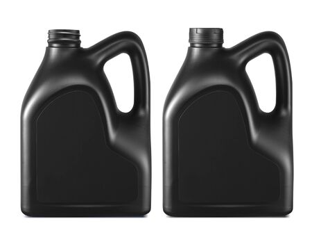 Plastic canister for machine oil isolated on white background Reklamní fotografie