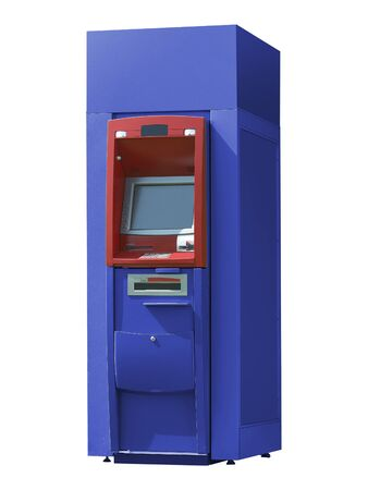 ATM Bank Cash Machine Isolated on Background