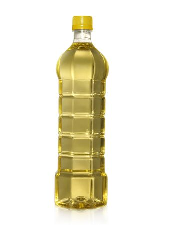 A bottle of Palm kernel Cooking Oil, isolated on white background