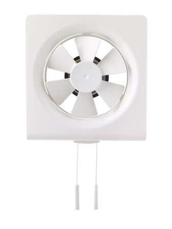 Wall Electric Extractor Plastic Air Fan for Bathroom on White