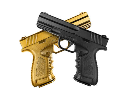 Pistol isolated on white background Standard-Bild