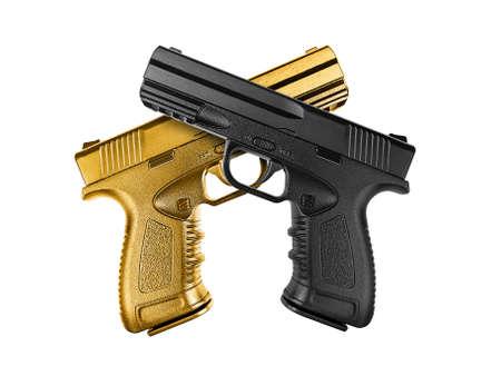 Pistol isolated on white background Stock Photo