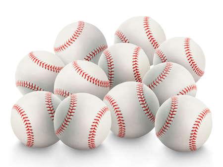 Baseball isolated on white background Standard-Bild
