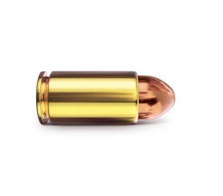 bullet on white background. 3D render