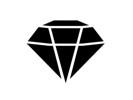 diamonds in a flat style. Abstract black diamond icons. Linear outline sign. icon logo design diamonds.