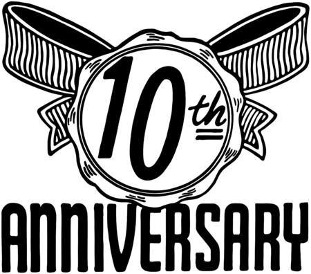 anniversary sale: 10th Anniversary Illustration