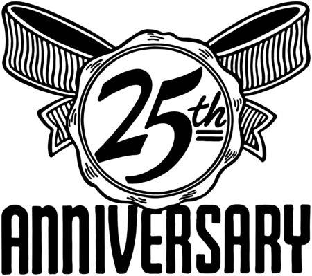 25th Anniversary Vector
