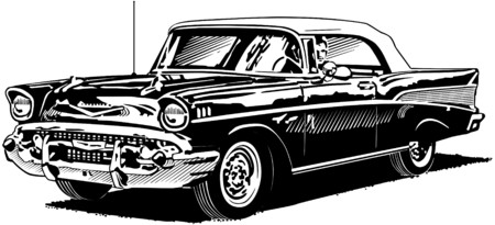 top down car: 57 Chevy