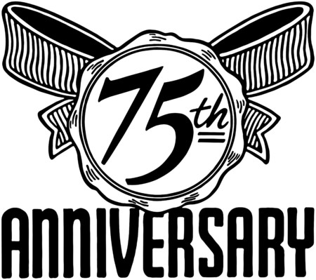 75th Anniversary Vector