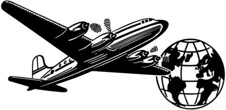 40: Airplane And Globe
