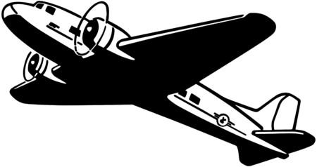Airplane Taking Flight Illustration