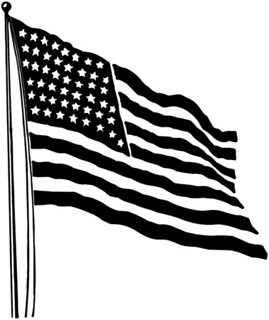 40s: American Flag Illustration