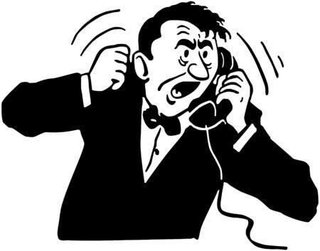telefon: Angry man Na Telefon