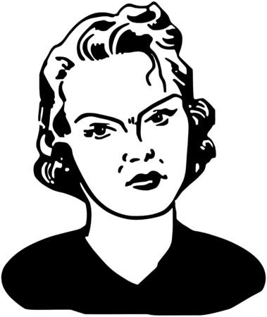 mujer fea: Mujer Enojada Vectores