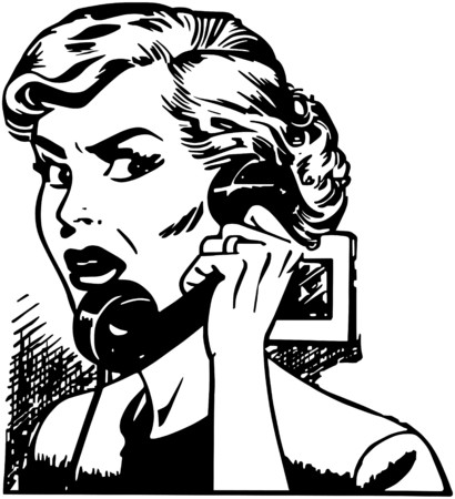 conversing: Angry Woman On Phone