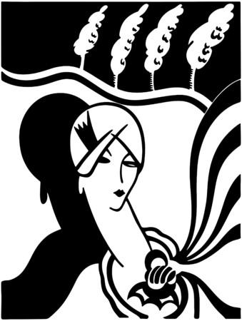 flappers: Art Deco Fashion Model